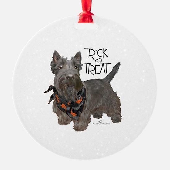 Scottie Dog Trick or Treat Ornament