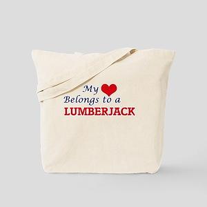 My heart belongs to a Lumberjack Tote Bag