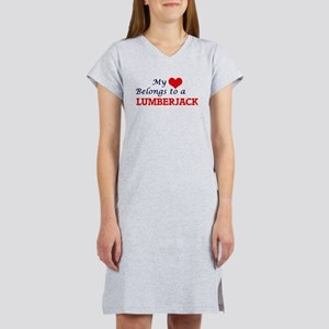 My heart belongs to a Lumberjac Women's Nightshirt
