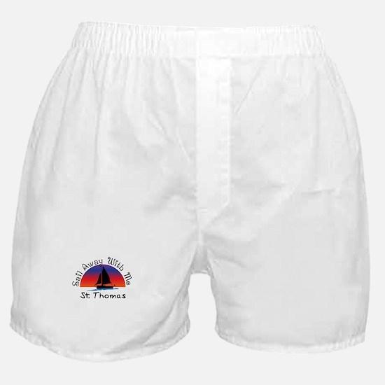 Sail Away with me St. Thomas Boxer Shorts