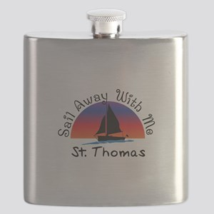 Sail Away with me St. Thomas Flask