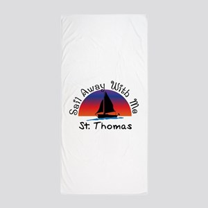 Sail Away with me St. Thomas Beach Towel