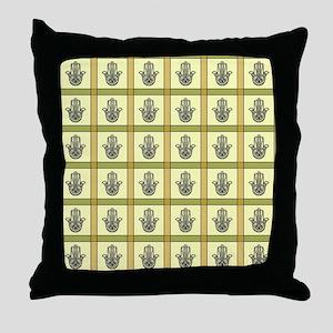 HAMSA PLAID Throw Pillow