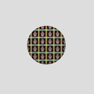 HAMSA PLAID Mini Button