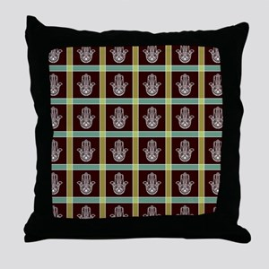 HAMSA PLAID Throw Pillow