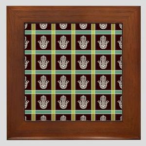 HAMSA PLAID Framed Tile