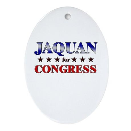 JAQUAN for congress Oval Ornament