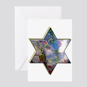 Star of David Hanukkah Card