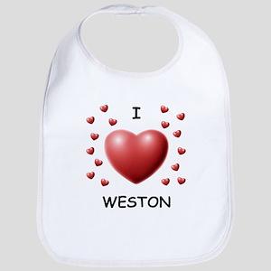 I Love Weston - Bib