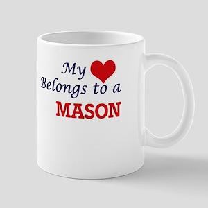 My heart belongs to a Mason Mugs