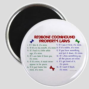 Redbone Coonhound Property Laws 2 Magnet