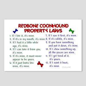 Redbone Coonhound Property Laws 2 Postcards (Packa
