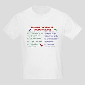 Redbone Coonhound Property Laws 2 Kids Light T-Shi