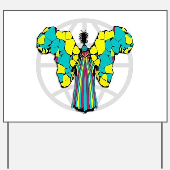 African Butterfly Yard Sign