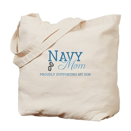 Navy Mom Tote Bag