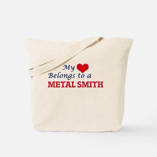 My heart belongs to a Metal Smith Tote Bag