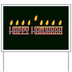 Happy Hanukkah Yard Sign