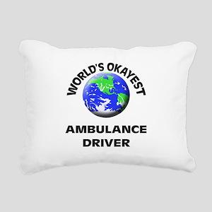 World's Okayest Ambulanc Rectangular Canvas Pillow