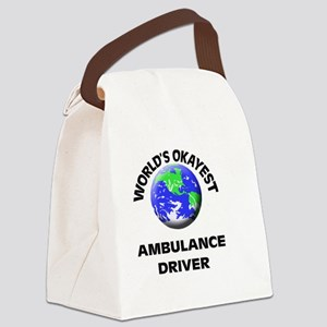 World's Okayest Ambulance Driver Canvas Lunch Bag