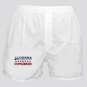 JANESSA for congress Boxer Shorts