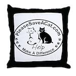 PleaseSaveACat.com Throw Pillow