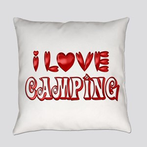 I Love Camping Everyday Pillow