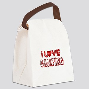I Love Camping Canvas Lunch Bag