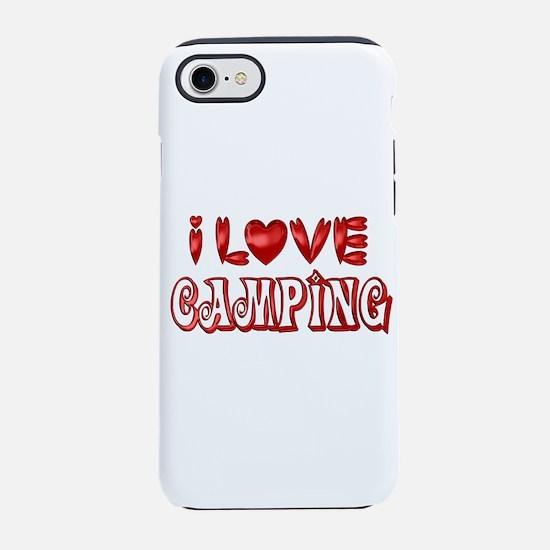 I Love Camping iPhone 8/7 Tough Case