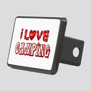 I Love Camping Rectangular Hitch Cover