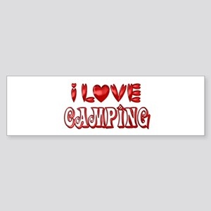 I Love Camping Bumper Sticker