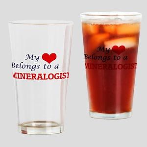 My heart belongs to a Mineralogist Drinking Glass