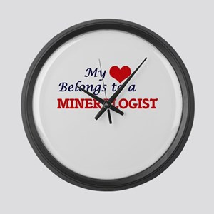 My heart belongs to a Mineralogis Large Wall Clock
