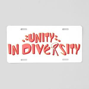 Unity In Diversity Aluminum License Plate