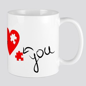 you complete me love puzzle Mugs
