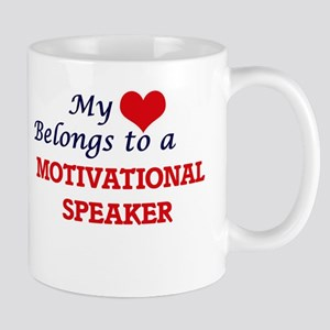 My heart belongs to a Motivational Speaker Mugs