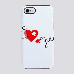 you complete me love puzzle iPhone 8/7 Tough Case