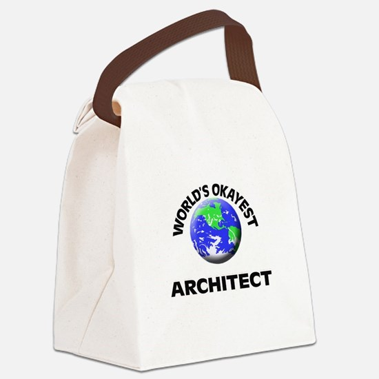 World's Okayest Architect Canvas Lunch Bag
