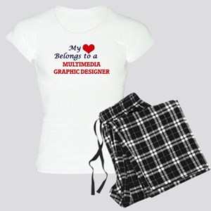 My heart belongs to a Multi Women's Light Pajamas