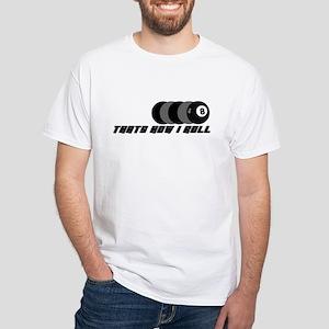 POOL SHIRTS POOL SHARK T-SHIR White T-Shirt