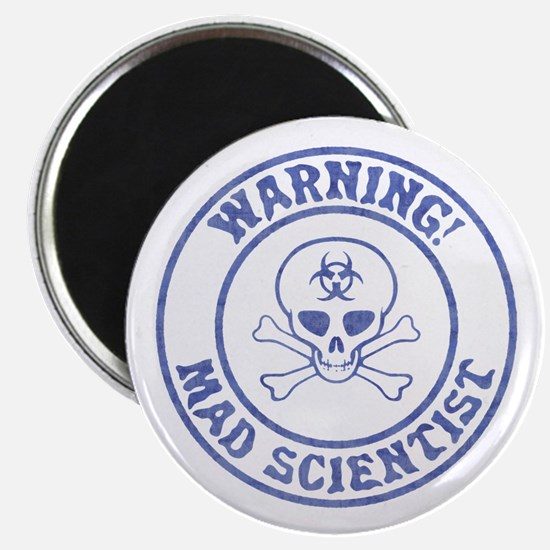Mad Scientist Warning Magnets