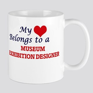 My heart belongs to a Museum Exhibition Desig Mugs