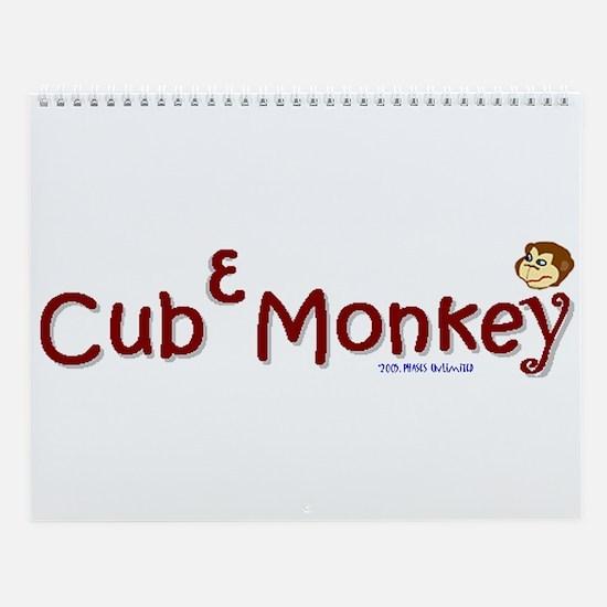 Cube Monkey Calendar Wall Calendar