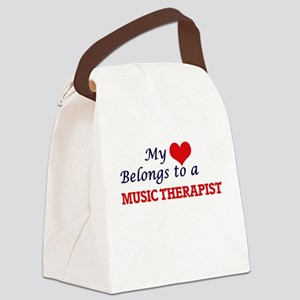 My heart belongs to a Music Thera Canvas Lunch Bag