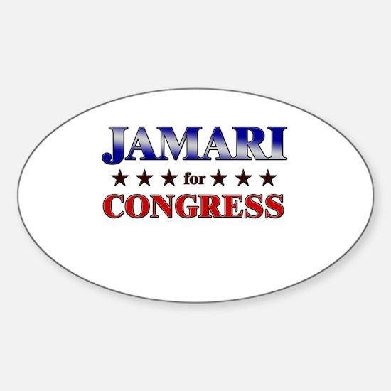 JAMARI for congress Oval Decal