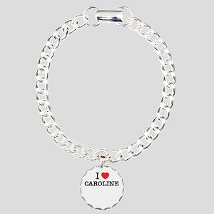 I Love CAROLINE Charm Bracelet, One Charm