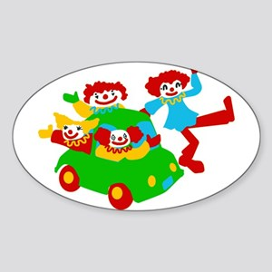 Clown Car Oval Sticker