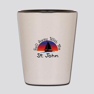 Sail Away with me St. John Shot Glass