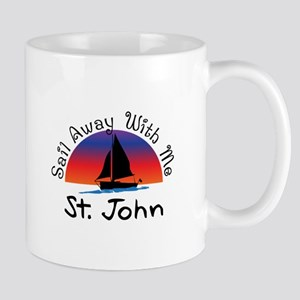 Sail Away with me St. John Mugs