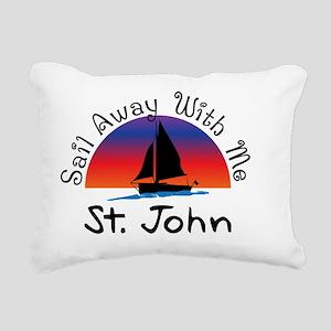 Sail Away with me St. Jo Rectangular Canvas Pillow
