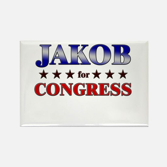 JAKOB for congress Rectangle Magnet